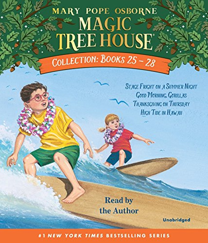 9780739338766: Magic Tree House Collection: Books 25-28: #25 Stage Fright on a Summer Night; #26 Good Morning, Gorillas; #27 Thanksgiving on Thursday; #28 High Tide in Hawaii