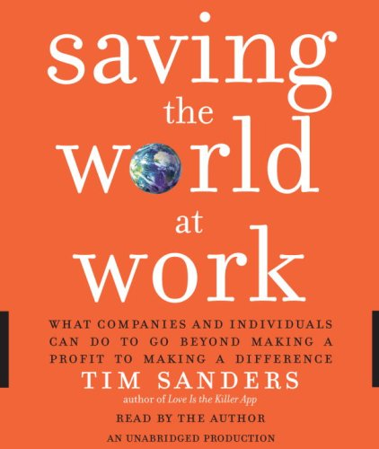 9780739370407: Saving the World at Work: What Companies and Individuals Can Do to Go Beyond Making a Profit to Making a Difference
