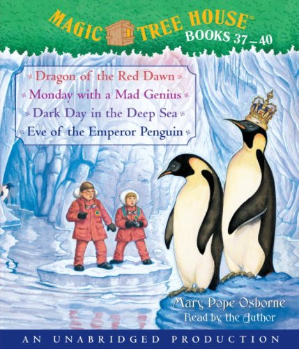 9780739372593: Magic Tree House Books 37-40: Dragon of the Red Dawn; Monday with a Mad Genius; Dark Day in the Deep Sea; Eve of the Emperor Penguin