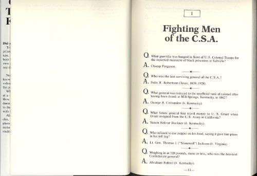 9780739406045: Civil War Trivia and Fact Book