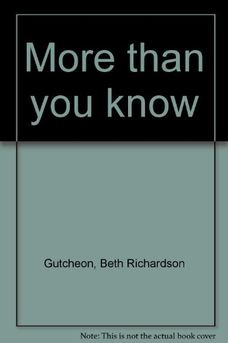 9780739409145: More Than You Know