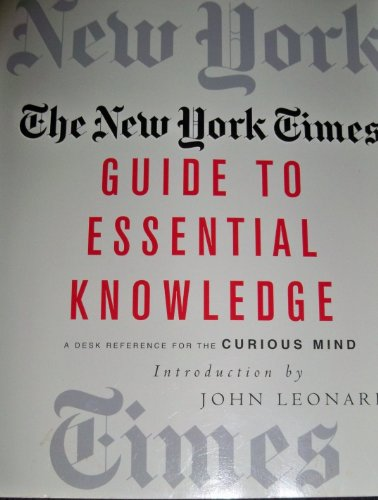 9780739452981: The New York Times Guide to Essential Knowledge