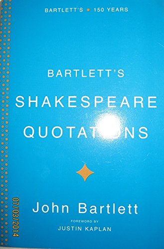 9780739469408: Bartlett's Shakespeare Quotations