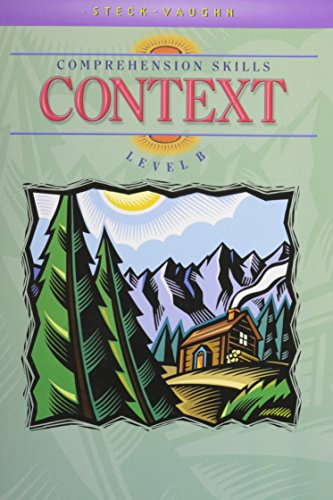 9780739826348: Steck-Vaughn Comprehension Skill Books: Student Edition Context Context