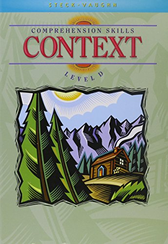 9780739826461: Steck-Vaughn Comprehension Skill Books: Student Edition Context Context