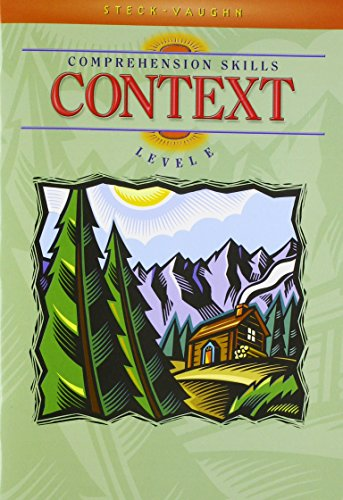 9780739826522: Steck-Vaughn Comprehension Skill Books: Student Edition Context Context