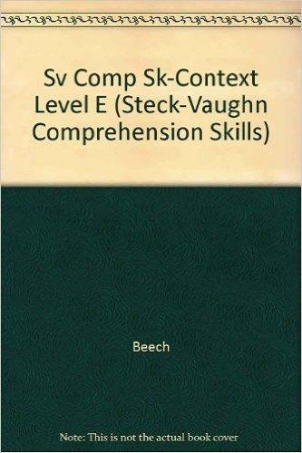 9780739826638: Comprehension Skills Level E Set: Kit (Steck-Vaughn Comprehension Skill Books)