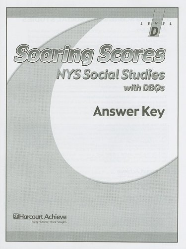 9780739839942: Soaring Scores NYS Social Studies with DBQs, Answer Key, Level D