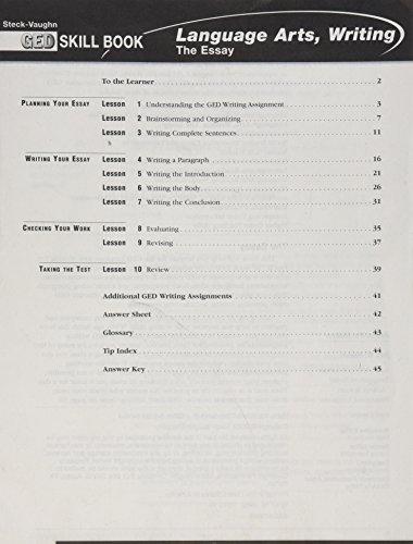9780739854198: GED Skill Books: Workbook Language Arts, Writing: Essay