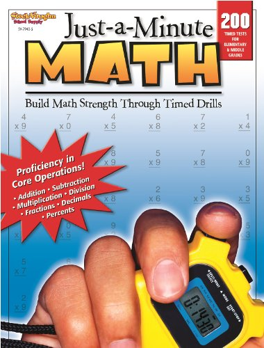 9780739879405: Just-a-Minute Math: Reproducible Grades 1-8