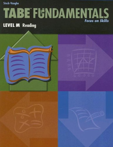9780739880012: Steck-Vaughn TABE Fundamentals: Student Book Level M Reading