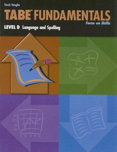 9780739880241: Steck-Vaughn TABE Fundamentals: Student Book Level D Language & Spelling