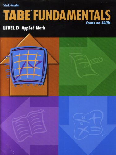 9780739880302: Tabe Fundamentals Level D Applied Math