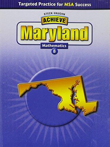 Steck-Vaughn Achieve Maryland: Student Reader Grade 8: STECK-VAUGHN