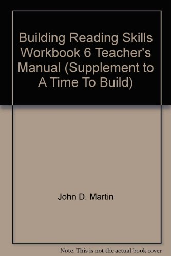 9780739904107: Building Reading Skills Workbook 6 Teacher's Manual (Supplement to A Time To Build)