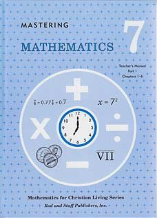 9780739904824: Mastering Mathematics Grade 7 Math Teacher's Manual Part 1