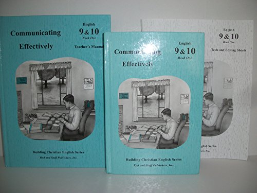 Communicating Effectively: Grades 9 & 10, Book One: Bruce Good