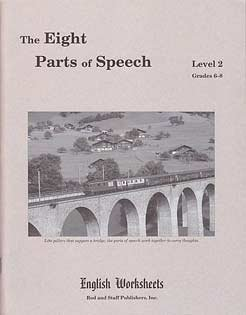 9780739916063: The Eight Parts of Speech, Level 2, Grades 6-8, English Worksheets