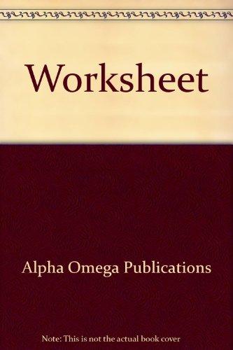 9780740301889: Worksheet (Lifepac Electives Accounting)