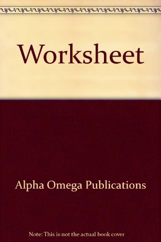 9780740301889: Worksheet
