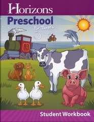 9780740329968: Horizons-Preschool For Threes Student Workbook
