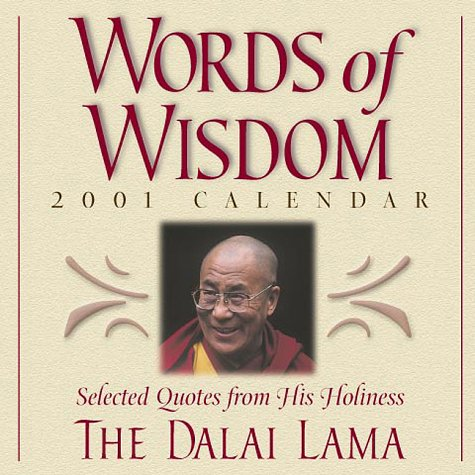 9780740709265: Words of Wisdom 2001 Calendar: Selected Quotes from His Holiness