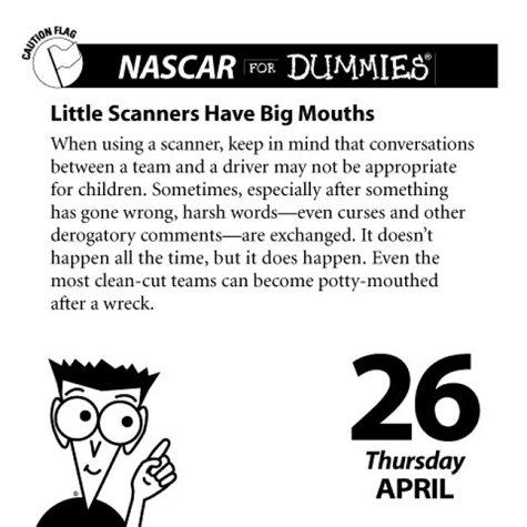 Nascar for Dummies 2001 Calendar (0740709305) by Martin, Mark