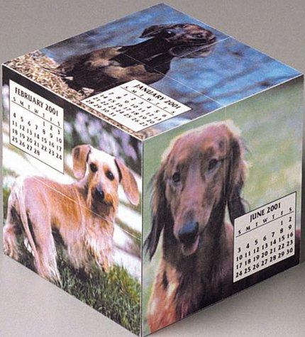 9780740709661: Dachshunds Mental Block 2001 Calendar and Desk Toy