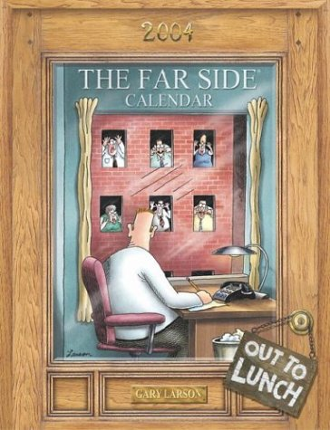 9780740737305: The Far Side Out To Lunch 2004 Desk Calendar