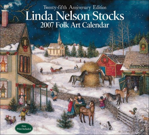 9780740758621: Linda Nelson Stocks Folk Art 2007 Wall Calendar