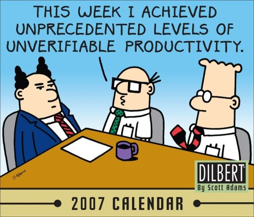 9780740759192: Dilbert 2007 Calendar: This Week I Achieved Unprecedented Levels of Unverifiable Productivity