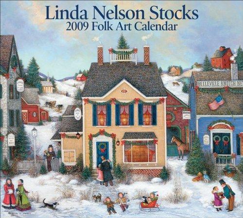 9780740774171: Linda Nelson Stocks Folk Art: 2009 Wall Calendar