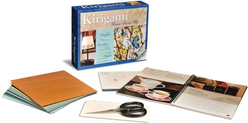 9780740777301: Kirigami Home Decor Kit [With Scissors and Origami Paper/Tracing Paper]