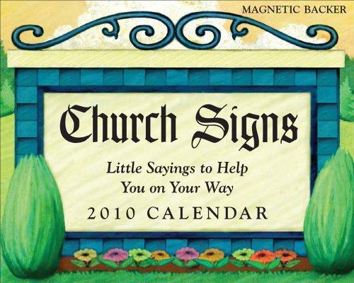 9780740783029: Church Signs: 2010 Mini Day-to-Day Calendar