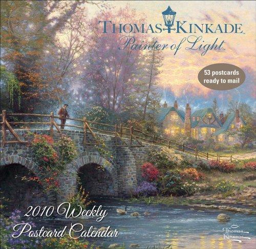 9780740784385: Thomas Kinkade Painter of Light Postcard 2010 Calendar