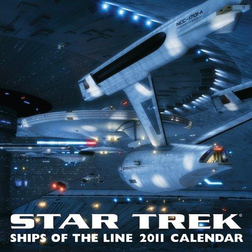 9780740795305: Star Trek: Ships of the Line: 2011 Wall Calendar