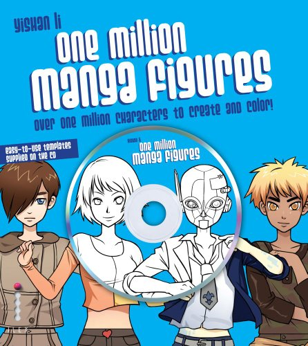 9780740797552: One Million Manga Characters: Over One Million Characters to Create and Color