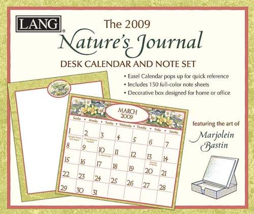 9780741228086: Marjolein Bastin Nature's Journal 2009 Desk Calendar & Note Set