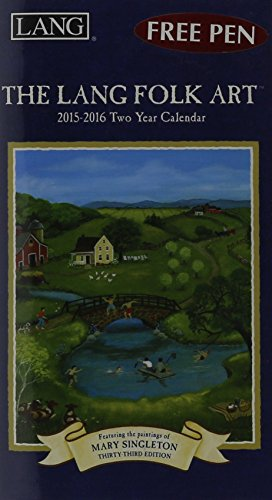 9780741248183: Lang Folk Art 2015-2016 Two Year Calendar
