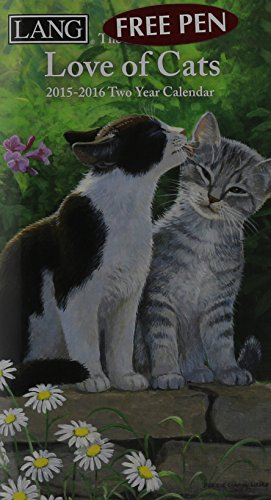 9780741248190: Love of Cats 2015-2016 Two Year Calendar
