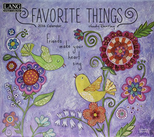 9780741249913: Favorite Things 2016 Calendar (Lang Artisan Collection)