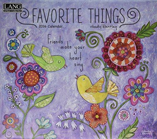 9780741249913: Favorite Things 2016 Calendar