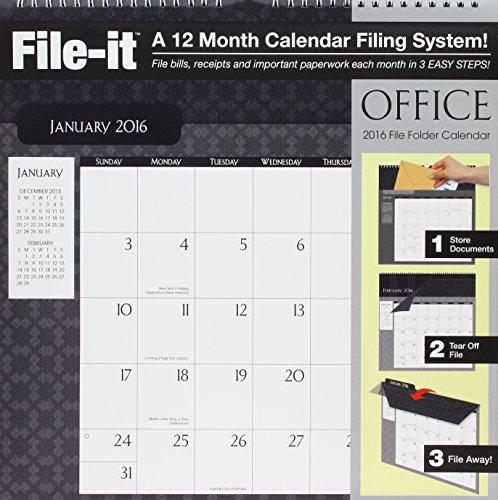 9780741250254: File-it Office File Folder 2016 Calendar