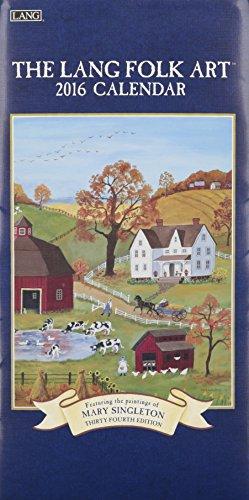 9780741250582: Lang Folk Art 2016 Verticle Calendar