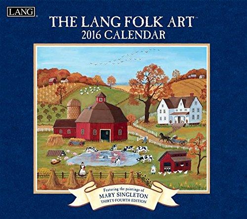 9780741251190: Lang Folk Art 2016 Calendar
