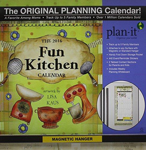 9780741251886: Fun Kitchen Plan-it Plus 2016 Calendar