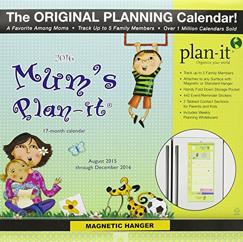 9780741252180: Mum's Plan-It August 2015 Through December 2016 17-Month Calendar: Includes 442 Event/Reminder Stickers and Magnetic Hanger