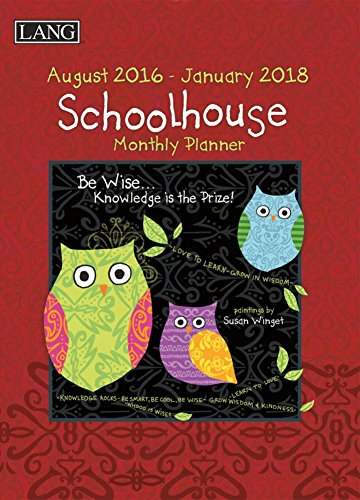 9780741256942: Schoolhouse August 2016 - January 2018 Monthly Planner