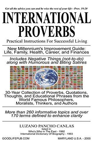 International Proverbs: Luzano Pancho Canlas