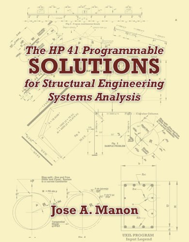 9780741433350: HP41 Programmable Solutions for Structural Engineering Systems